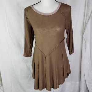 Intimately free people thin olive green tunic